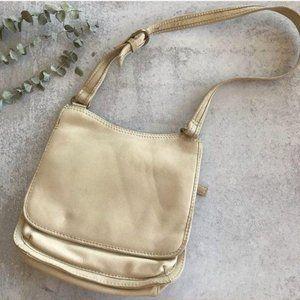FOSSIL Classic Vintage White Leather Boho Purse
